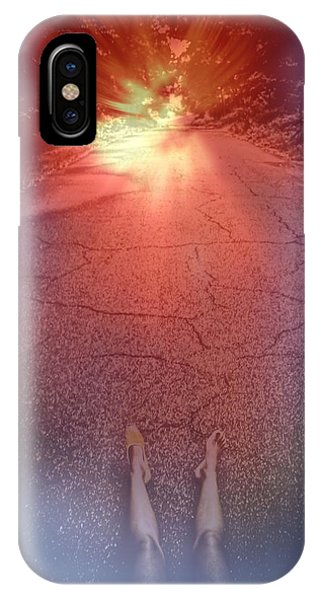 Laying On The Road Of Imagination IPhone Case