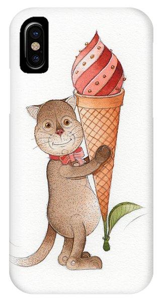 Ice Cream iPhone Case - Lazy Cats11 by Kestutis Kasparavicius
