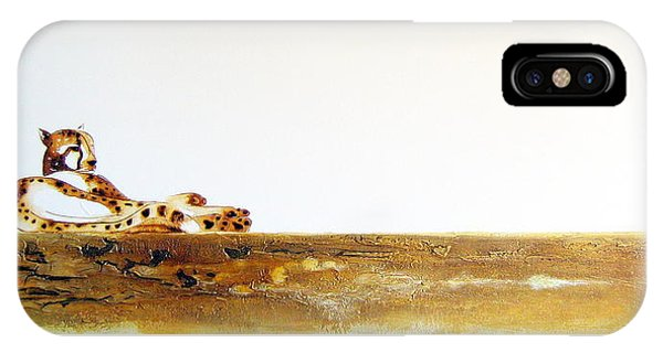 Lazy Dayz Cheetah - Original Artwork IPhone Case