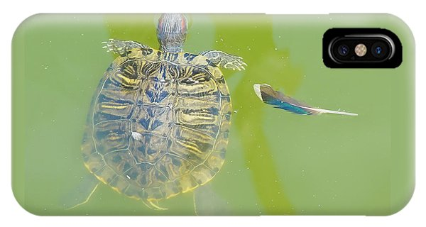 Lazy Summer Afternoon - Floating Turtle IPhone Case