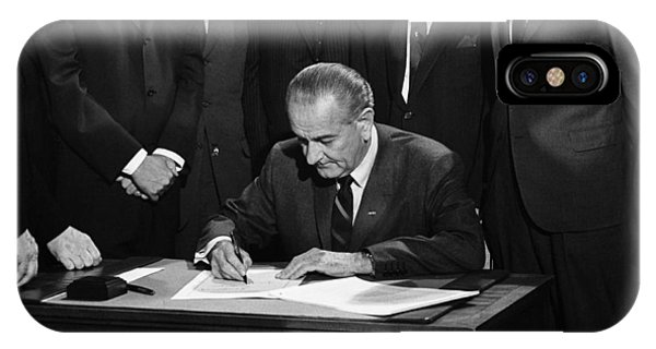 Lbj Signs Civil Rights Bill IPhone Case