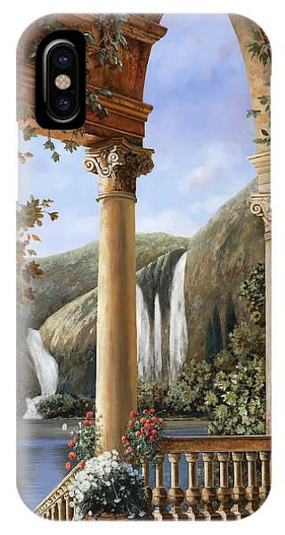 Columns iPhone Case - Le Cascate by Guido Borelli