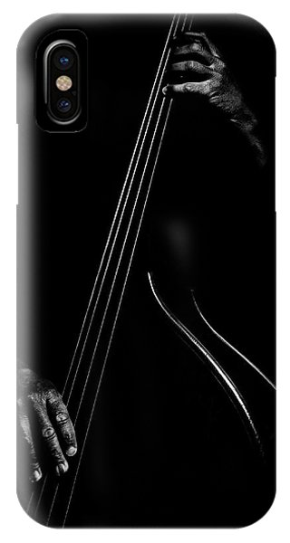 Outline iPhone Case - Le Contrebassiste by Strugala Didier