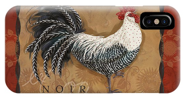 Le Coq Rooster Noir IPhone Case