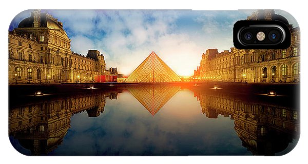 French iPhone X Case - Le Louvre by Massimo Cuomo