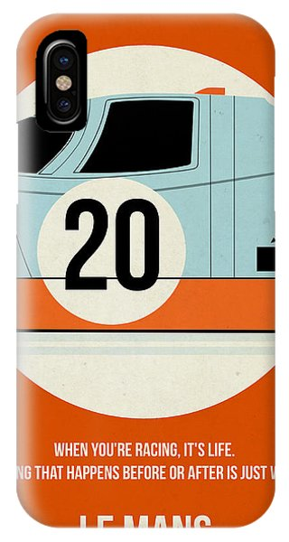 Men iPhone Case - Le Mans Poster by Naxart Studio