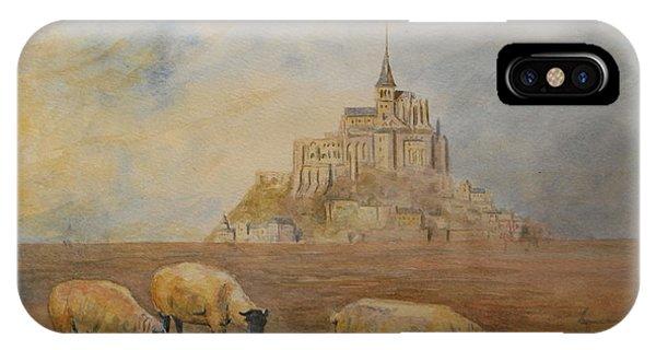 Normandy iPhone Case - Le Mont Saint Michel by Juan  Bosco