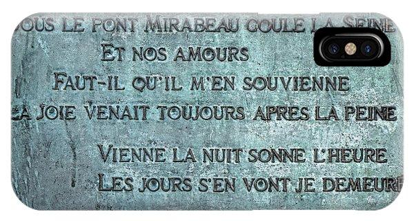 Sonne iPhone Case - Le Pont Mirabeau by Olivier Le Queinec