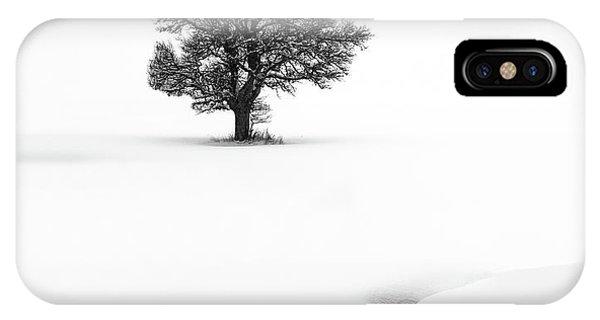Simple Landscape iPhone Case - Le Solitaire by Marc Pelissier