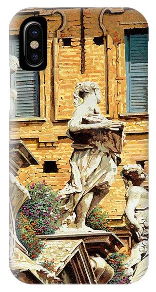 Statue iPhone Case - Le Statue by Guido Borelli