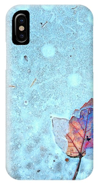 Leaf In Ice IPhone Case
