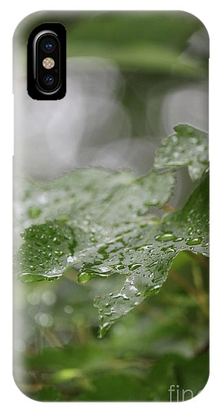 Leafy Raindrops IPhone Case