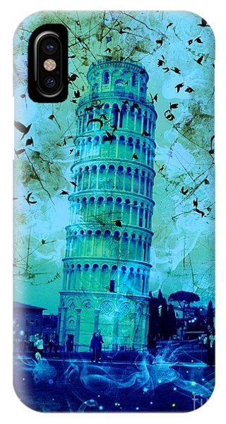Leaning Tower Of Pisa 3 Blue IPhone Case