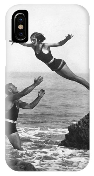 Leap Into Life Guard's Arms IPhone Case