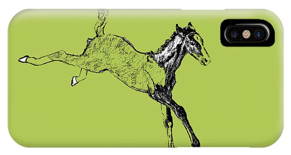 Leaping Foal 6554 IPhone Case