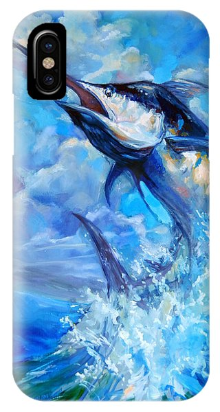Swordfish iPhone Case - Leaping Marlin by Tom Dauria