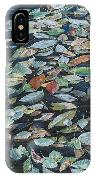 Leaves On Pond IPhone Case
