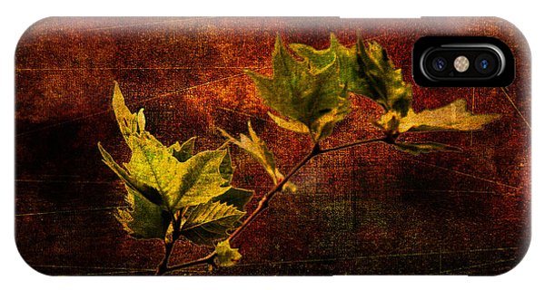 Leaves On Texture IPhone Case