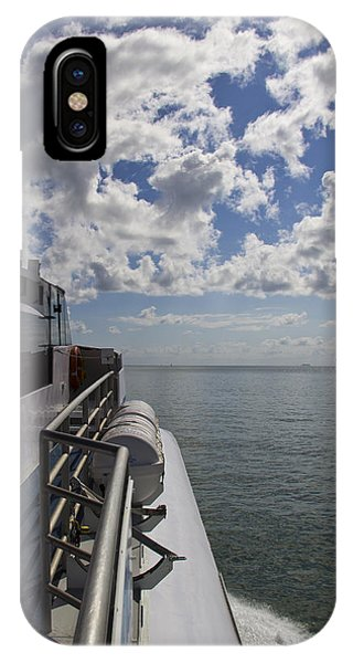 IPhone Case featuring the photograph Leaving The Channel by Debbie Cundy