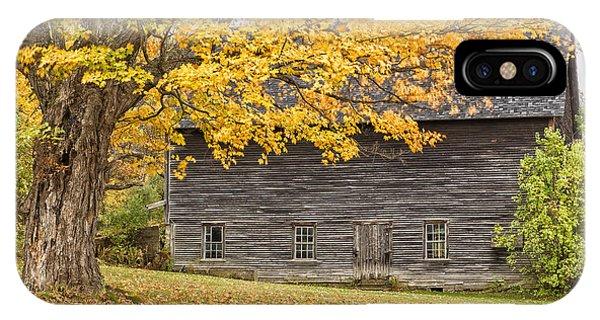 New England Barn iPhone Case - Leavitt's Barn by John Vose