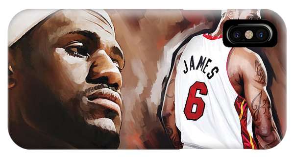 8347c7b80c4a Lebron James iPhone Case - Lebron James Artwork 2 by Sheraz A