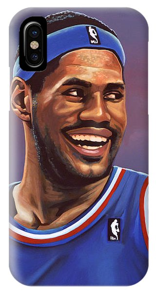 17b1b416ccb9 Lebron James iPhone Case - Lebron James by Paul Meijering