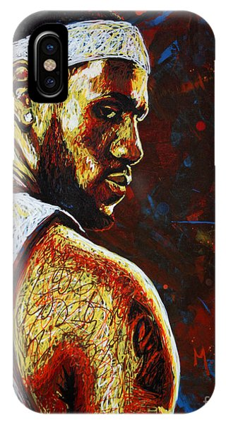 079d34aa3761 Lebron James iPhone Case - Lebron by Maria Arango