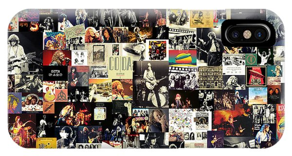 Rock And Roll iPhone Case - Led Zeppelin Collage by Zapista