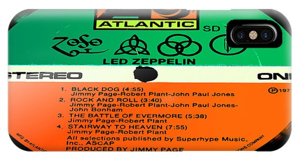 Rock And Roll Jimmy Page iPhone Case - Led Zeppelin Iv Side 1 by Marcello Cicchini