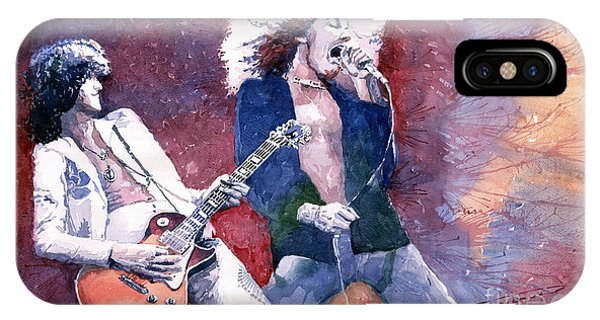 Led Zeppelin Jimmi Page And Robert Plant  IPhone Case