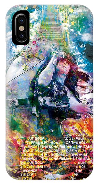 Led Zeppelin Original Painting Print  IPhone Case