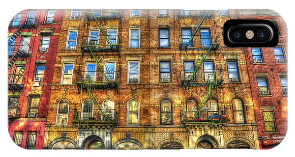 Building iPhone Case - Led Zeppelin Physical Graffiti Building In Color by Randy Aveille