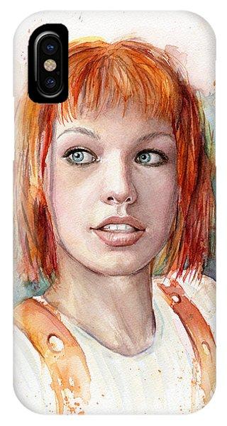 Dallas iPhone Case - Leeloo Portrait Multipass The Fifth Element by Olga Shvartsur