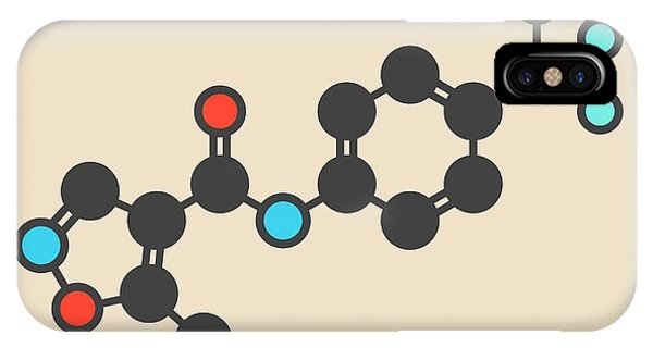 Synthesis iPhone Case - Leflunomide Drug Molecule by Molekuul