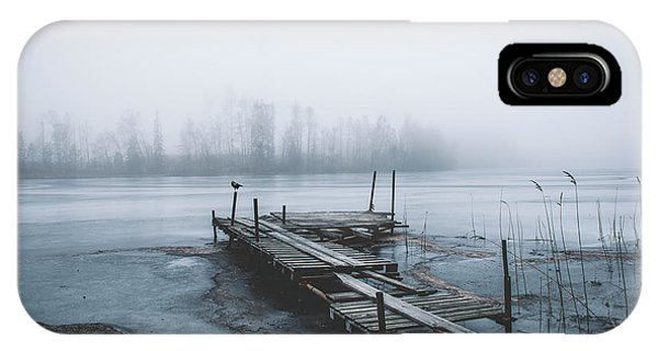 Pier iPhone Case - Left For Winter by Christian Lindsten
