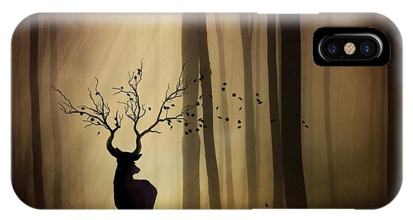 Stag iPhone Case - Legendes D'automne by Sebastien Del Grosso