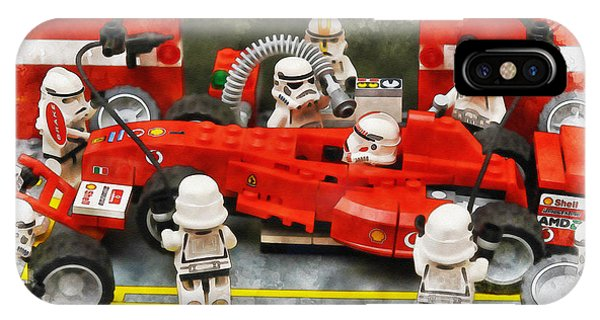 Lego Pit Stop IPhone Case