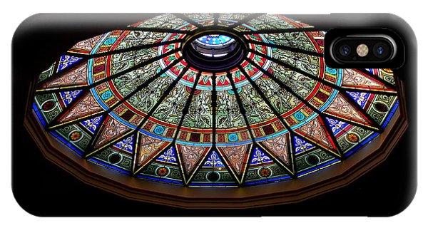 Lehigh University Linderman Library Rotunda Window IPhone Case
