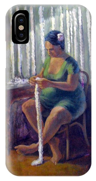Lei Making In Hawaii Phone Case by Jack Edson Adams