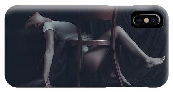Chair iPhone Case - Leitmotif Of Self Retrieval by Bettina Tautzenberger