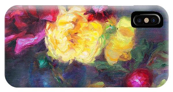 Lemon And Magenta - Flowers And Radish IPhone Case