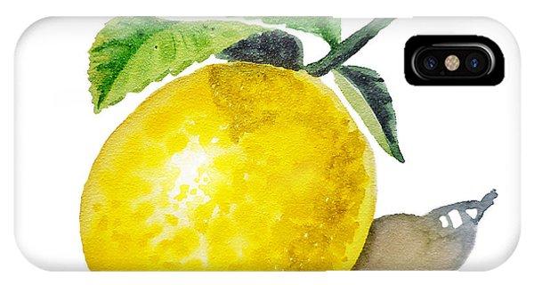 Lemon iPhone Case - Artz Vitamins The Lemon by Irina Sztukowski