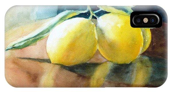 Lemon Reflections IPhone Case