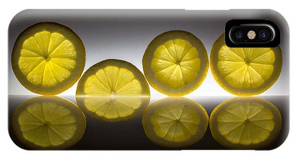 Reflection iPhone Case - Lemon by Wieteke De Kogel