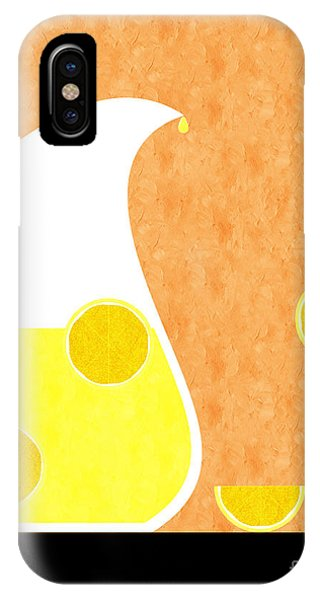 Beverage iPhone Case - Lemonade And Glass Orange by Andee Design