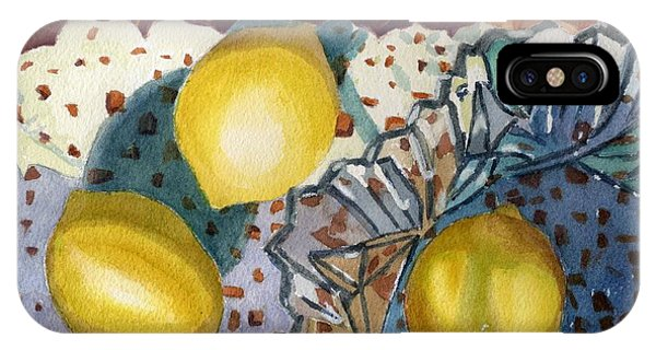 Lemons And Glass IPhone Case