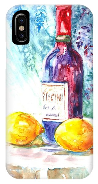 Lemons And Wine And A Little Sunshine IPhone Case