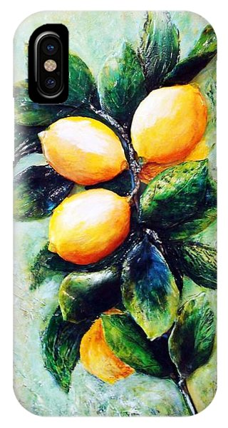 Lemons In Sunshine IPhone Case