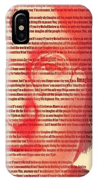 Famous People iPhone Case - Lennon  by Mark Ashkenazi