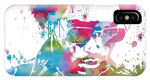 Violet iPhone Case - Lenny Kravitz Paint Splatter by Dan Sproul